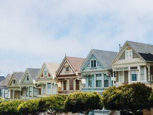Similar houses in a row