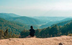 Man Looking Over The Smoky Mountains Near Nashville